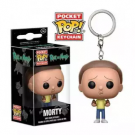 FUNKO POCKET KEYCHAIN – MORTY – ANIMAÇÃO RICK AND MORTY