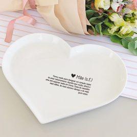Petisqueira Coração em Porcelana